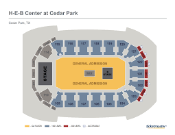 Arena Maps Seating Maps H E B Center