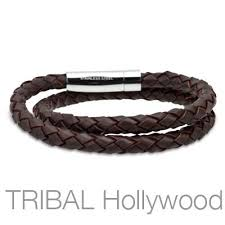 men braided leather bracelet images Hula hula brown braided double wrap mens leather bracelet tribal jpg