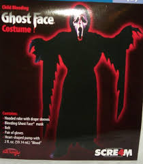 bleeding ghost face boys costume halloween size m zombie scre4m