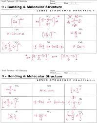 lewis structure worksheet worksheets