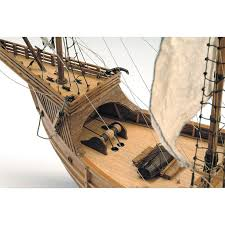 santa caravel wooden model the new world is on your