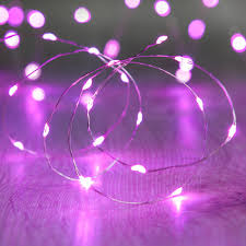 String Lights Uk by 20 Pink Led Micro Battery Fairy Lights Lights4fun Co Uk