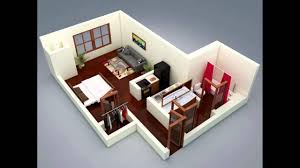 a super small apartment design with floor plan youtube