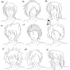natural hairstyles for male anime hairstyles anime boy short