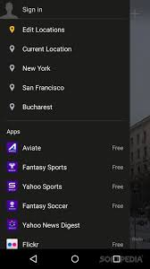 yahoo apps for android yahoo weather for android
