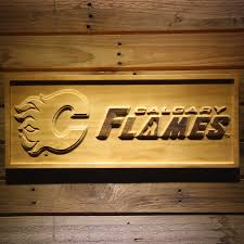 3d wood calgary flames 3d wooden sign bongroup