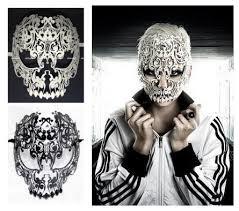 mardi gras skull mask black white venetian skull mask women men
