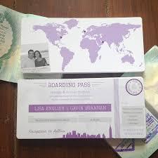 boarding pass wedding invitations new york boarding pass wedding invitation bundle by rodo creative