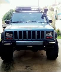 matte blue jeep cherokee 1988 1989 1990 1991 1992 jeep cherokee xj mad angry eyes headlight