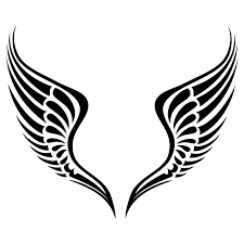 tribal angel wings tattoo tribal cross angel wings tattoo graphic