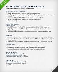 Sle Resume For Restaurant Server by Resume Cv Cover Letter Crew Member Sle Resume For Food