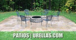 Stone Patio With Fire Pit Pavers U0026 Stonework Urellas Irrigation U0026 Landscaping Llc