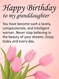 to my lovely granddaughter happy birthday wishes card birthday
