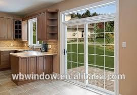 Sliding Doors Patio Glass Exterior Glass Door Pvc Slide Door With Grills Design For Patio