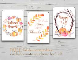 How To Decorate Your Home For Fall Fall Decor Free Printables Onion Rings U0026 Things