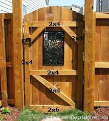 How To Build Backyard Fence Diy Backyard Decorative Wooden Gate How A Built A Gate Live