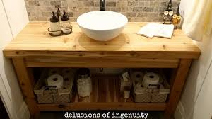 Build Bathroom Cabinet Diy Bathroom Vanity Small Sinks And Home Designs With Vessel Sink