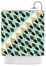 Teal And Brown Shower Curtain Martinez