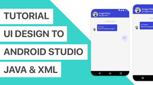 chat android chat app ui design to android studio xml and java tutorial