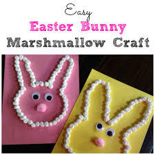 easy easter bunny marshmallow craft marshmallow crafts easter