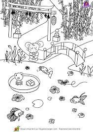 coloriage asie jardin japonais sur hugolescargot com