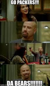 Packers Bears Memes - skinhead john travolta meme imgflip