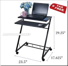 Mobile Laptop Desk Mobile Laptop Desk Cart Portable Computer Table Notebook Stand