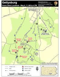 Gettysburg Pennsylvania Map by Doors Open May 6 2017 Gettysburg National Military Park U S