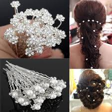 hair accessories for 20pcs fashion pearl wedding hair pins flower bridal