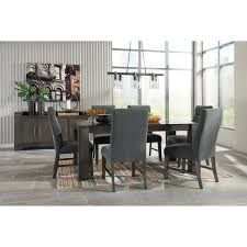 Contemporary Rectangular Dining Room Table With Glass Top By