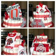 halloween themed diaper cakes ohio state buckeye baby diaper cake love how cute it turned out