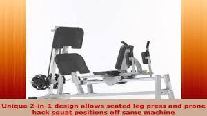 tuff stuff evolution horizontal plate load leg presshack squat clh