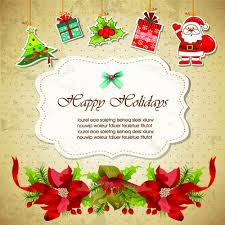 christmas cute greeting cards design vector free vector in