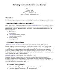Resume Sample Summary by Strong Communication Skills Resume Examples Free Resume Example