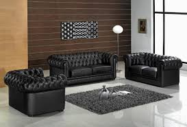 Chesterfield Sofa Design Ideas Excellent Modern Furniture Design Of Black Leather Chesterfield