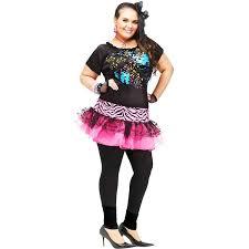 plus size halloween tights amazon com 80 u0027s pop party plus size costume clothing