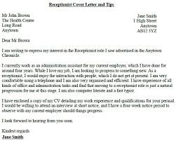 cover letter template for receptionist cover letter sle