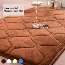 Brown Bathroom Rug by Memory Foam Mat Bath Bathroom Rug Shower Non Slip Carpet Absorbent