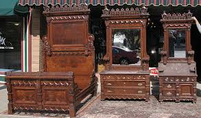 Victorian Bed Set by Walnut Victorian Aesthetic Movement Three Piece Bedroom Set