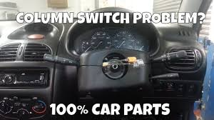 how to change replace column switch wiper indicator stalks airbag