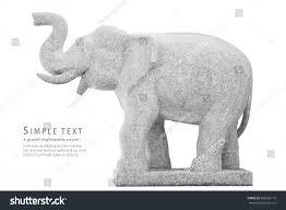 Elephant Statue Stone Elephant Statue On White Background Stock Photo 362982116