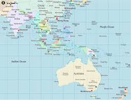 Monsoon Asia Map Asia And Australia Map Travel Maps And Major Tourist Attractions