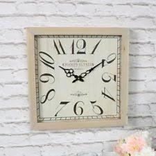 Grande Horloge Murale Carrée En Bois Vintage Achat Horloges De Maison Cagnes Ebay