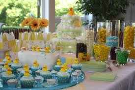 rubber duck themed baby shower boy baby shower candy bar ideas the table included candy