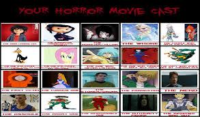Horror Movie Memes - my horror movie cast meme by gxfan537 on deviantart