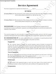 10 best images of service agreement form service contract