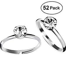 rings diamond images Aboat 52 pack bridal shower rings silver diamond rings jpg