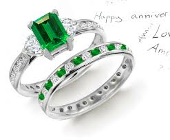 gemstone wedding rings emerald wedding ring sets designer colored gemstone engagement