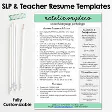 slp u0026 teacher resume and cover letter templates fully editable