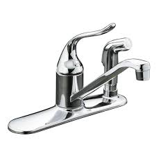kohler essex 2 handle standard kitchen faucet with side sprayer in